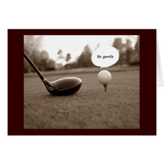 GOLFER'S HUMOROUS BIRTHDAY WISHES GREETING CARD