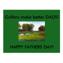 Golfers make better DADS Fathers Day postcards
