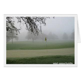 Golfers Mist Opportunity Notecard