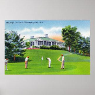 Golfers on McGregor Golf Links Scene Poster