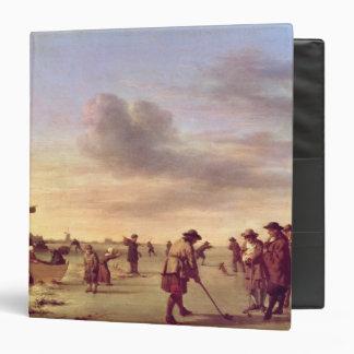 Golfers on the Ice near Haarlem 1668 Binders