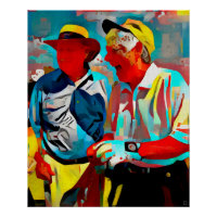Golfer's Painting - Art On Canvas Print