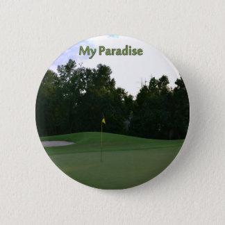 Golfers Paradise Pinback Button