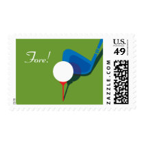 Golfer's Party - Fore! Postage