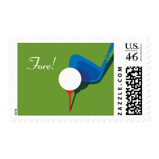 Golfer's Party - Fore! Stamps