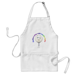 Golfers Play with Harder Balls Adult Apron