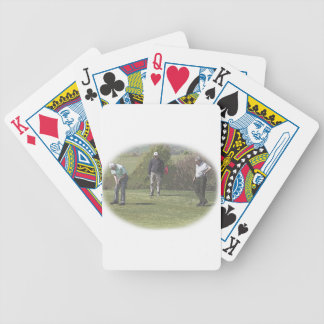 Golfers Playing Cards