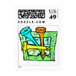 Golfers Postage stamps
