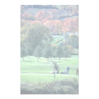 Golfers with fall foliage in background, Queechee, Customized Stationery