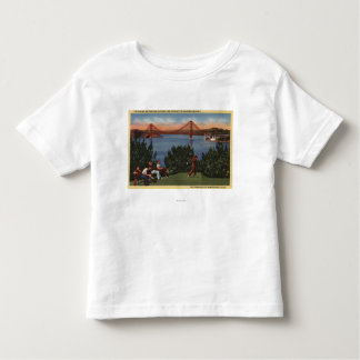 Golfers with Golden Gate Bridge in Background Toddler T-shirt
