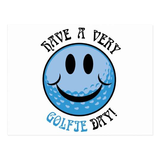 Golfie Day Postcard