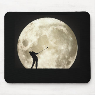 Golfing At Night Mouse Pad