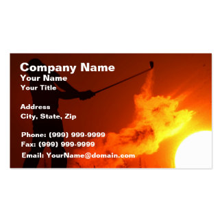 Golfing at Sunset Business Card