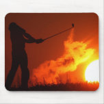 Golfing at Sunset Mouse Pad
