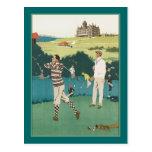Golfing at the Club Postcard