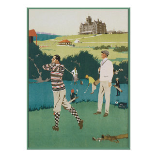 Golfing at the Club Poster