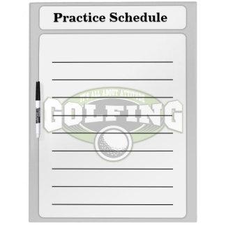 Golfing Attitude Dry-Erase Board