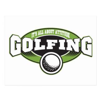 Golfing Attitude Postcard