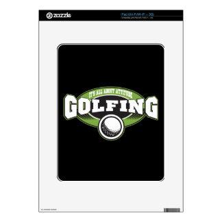 Golfing Attitude iPad Skin