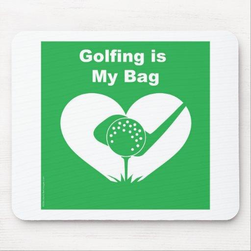 Golfing Bag Mouse Pads