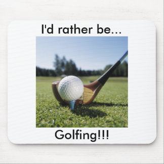 ¡… Golfing bastante!!! Cojín de ratón Alfombrillas De Ratón