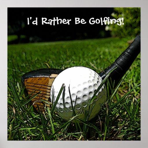Golfing bastante el poster póster