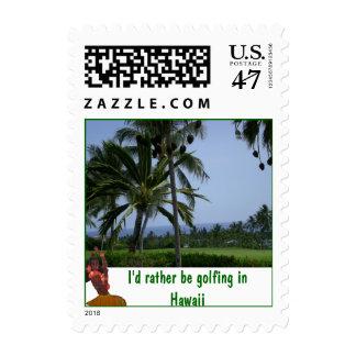 Golfing bastante en Hawaii Sello