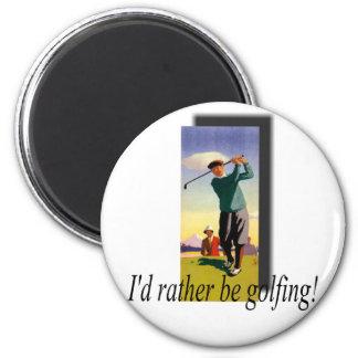 ¡Golfing bastante! Iman Para Frigorífico