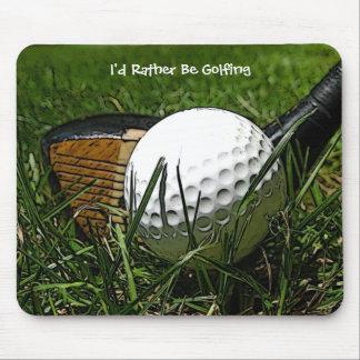 Golfing bastante Mousepad Alfombrilla De Ratones