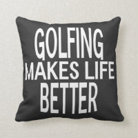 Golfing Better Pillow - Assorted Styles & Colors
