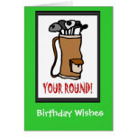 Golfing Birthday cards, Golf bag