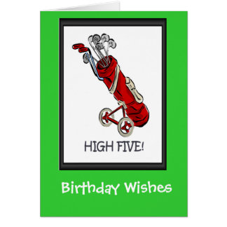 Golfing Birthday cards, Golf bag Card