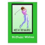 Golfing Birthday cards, Lady player