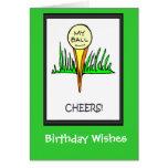 Golfing Birthday cards, My ball