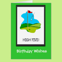 Golfing Birthday cards, The final hole Card