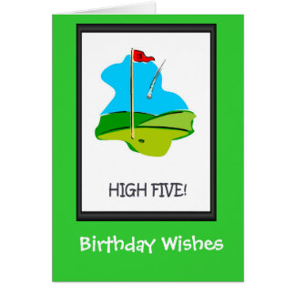 Golfing Birthday cards, The final hole Card