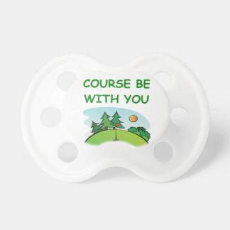 golfing BooginHead pacifier