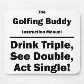 golfing buddy mouse pad