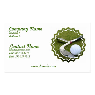 Golfing Business Card