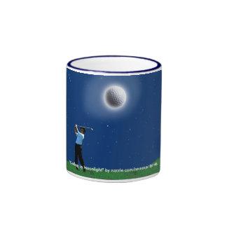 """""""GOLFING BY MOONLIGHT"""" Funny Golfer's Mug"""