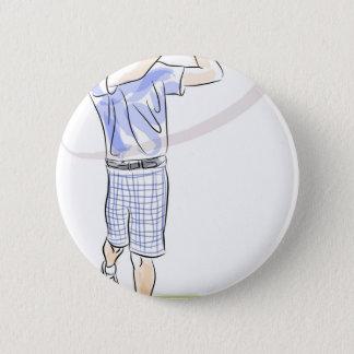 Golfing Cartoon Pinback Button