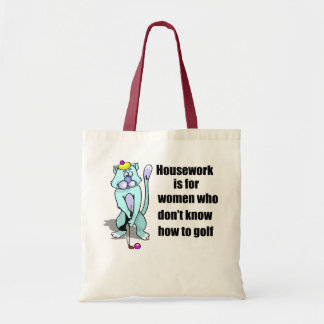 Golfing Cat Tote Bag