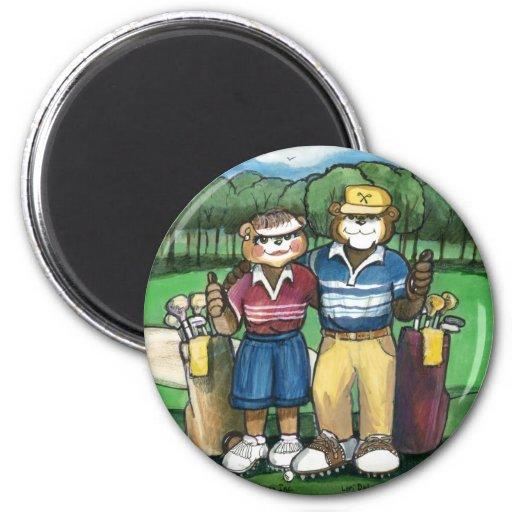 Golfing Couple Magnet