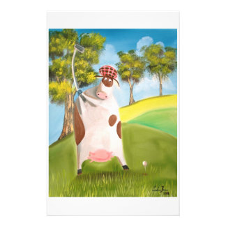 GOLFING COW STATIONERY
