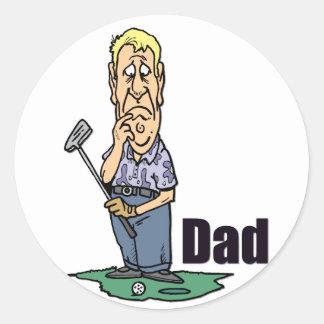 Golfing Dad Design 3 Classic Round Sticker