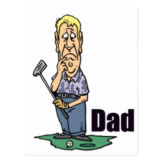 Golfing Dad Design 3 Postcard