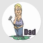 Golfing Dad Design 3 Stickers