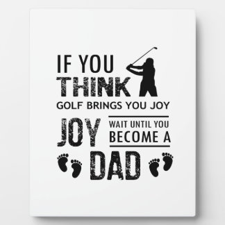 Golfing Dad Plaque