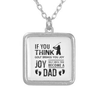 Golfing Dad Silver Plated Necklace