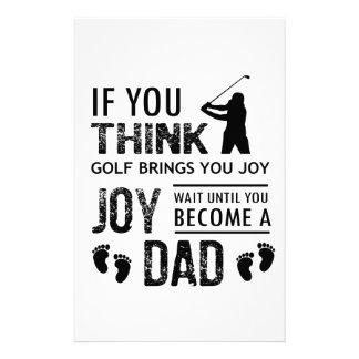 Golfing Dad Stationery